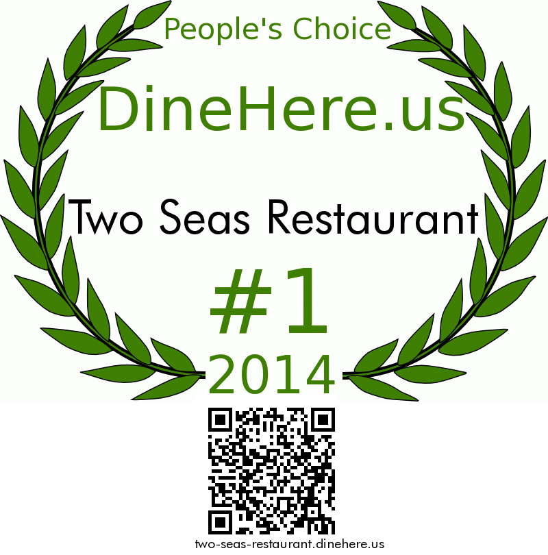 Two Seas Restaurant DineHere.us 2014 Award Winner