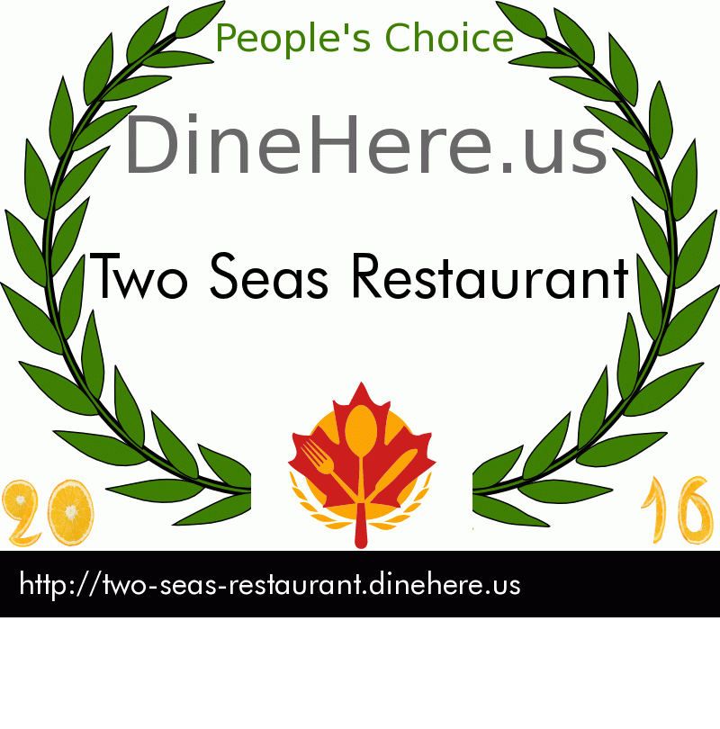 Two Seas Restaurant DineHere.us 2016 Award Winner