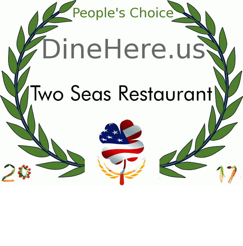 Two Seas Restaurant DineHere.us 2017 Award Winner